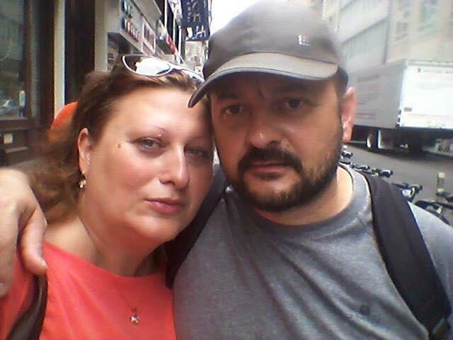 Весна со сопругот Љубомир во Њујорк